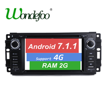Android 7.1 CAR DVD GPS For Jeep Grand Cherokee Commander Compass Patriot Wrangler DVD player RAM 1G/2G ROM 16G/32G radio Audio