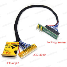 EDID Notebook LCD screen code chip data read line LED LCD 2 in 1 For RT809F and RT809H Programmer