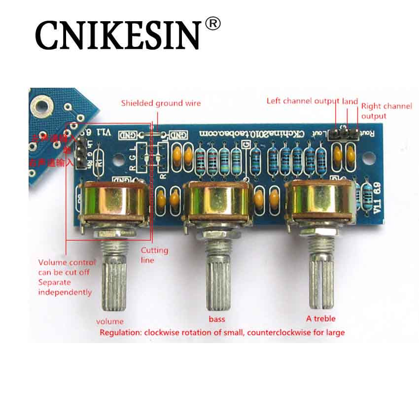 CNIKESIN DIY electricity Power Amplifier Passive Front Plate Front Board Sound Palette PCB Board KIT Parts