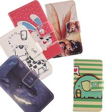 ABCTen Painting Wallet Card Holder Design Cell Phone Bag Flip Cover PU Leather Case For Sky Devices 5.0Q 5.0