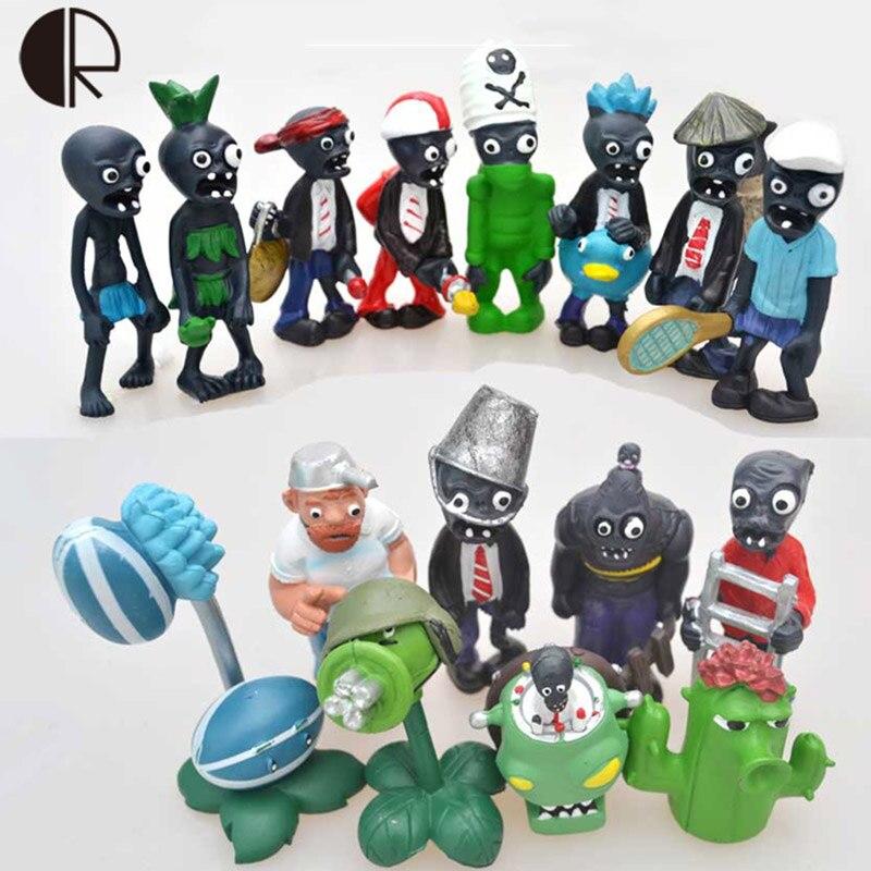 16pcs/set Hot Sale Plants vs Zombies Statue Toy  PVC Action Figures Model 4-7cm PVZ2 Fixed Collection Figurine Toys Gifts HT3478<br><br>Aliexpress