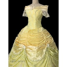 P102 COSPLAY beauty and beast princess belle Costume tailor made puffy version Brand: angel-secret
