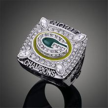 Top Quality Wisconsin Green Bay Packers Super Bowl Rings Elite QB Aaron Rodgers MVP Sports Replica Champ Ring Men J02099(China)