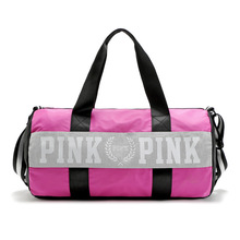 fashion girl  Stripe Duffle Bag pink Victoria  beach shoulder bag large capacity   secret Overnight Weekender bag