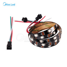 1M 30 led/m WS2812B led strip light,Black PCB,Non-waterproof IP30,2812 IC,RGB Dream color,SMD 5050 individually Addressable,DC5v