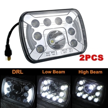 2pcs Free shipping 2016 New 7x5 Angel Eye Headlight led sealed beam Hi/Low product 12V 2700 LM led truck 7x5 5x7 headlight