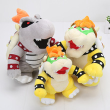 17-24cm anime Super Mario plush 3D Land Bone dragon Plush Toy Bolster Dry Bones Bowser Koopa plush soft stuffed animals doll