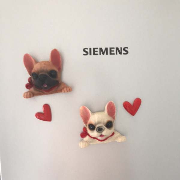 French Bulldog cute puppy dogs resin switch stickers fridge magnets - Magnet show 3
