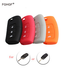 FGHGF NEW Black Gray Orange Red Silicone Car Auto Remote Fob Key Holder Case Cover For Ford Focus Fiesta