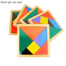 Huan qiu xin mao New Hot Sale Children Mental Development Tangram Wooden Jigsaw Puzzle Educational Toys for Kids(China)