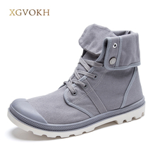 New 4 Colors men shoes Style Fashion High-top Military Ankle Boots Comfortable canvas Shoe fashion Boots men shoes