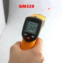 1PCS Non-Contact Digital Infrared Thermometer Laser Temperature Pyrometer -50~380C Degree -58~626F GM320 measuring LCD Backlight