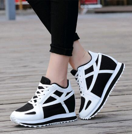 High Heels Wedge Shoes For Women White Casual Tenis Feminino Platform Basket Femme 2017 Girl Krasovki Small Size Gumshoe<br><br>Aliexpress