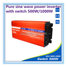 pure sine wave power inverter 500W DC24V to AC220V inverter,solar power inverter with auto transfer switch,car inverter
