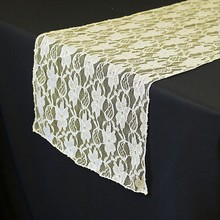 "5 pieces 12 x 108"" Ivory Rustic Lace Table Runner Natural For Wedding Table Decoration New and shipping free"