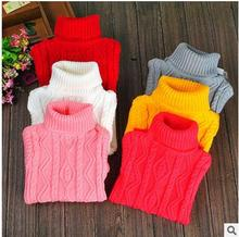2-12 year,children clothes High quality baby girls boys pullovers turtleneck sweaters,2016 autumn/winter warm  kids outerwear,