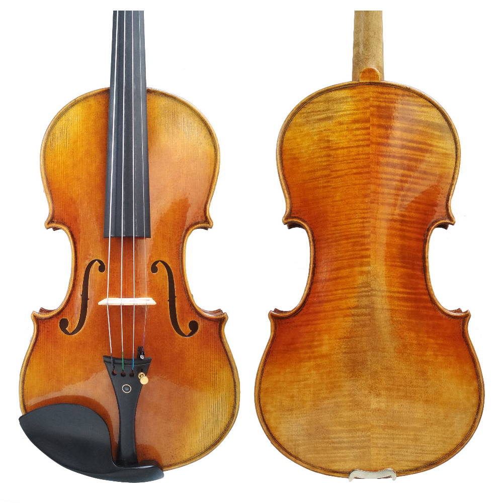 Free Shipping Copy Antonio Stradivari Cremonese 1716 Model Violin FPVN01 with Canvas Case and Brazil Bow title=