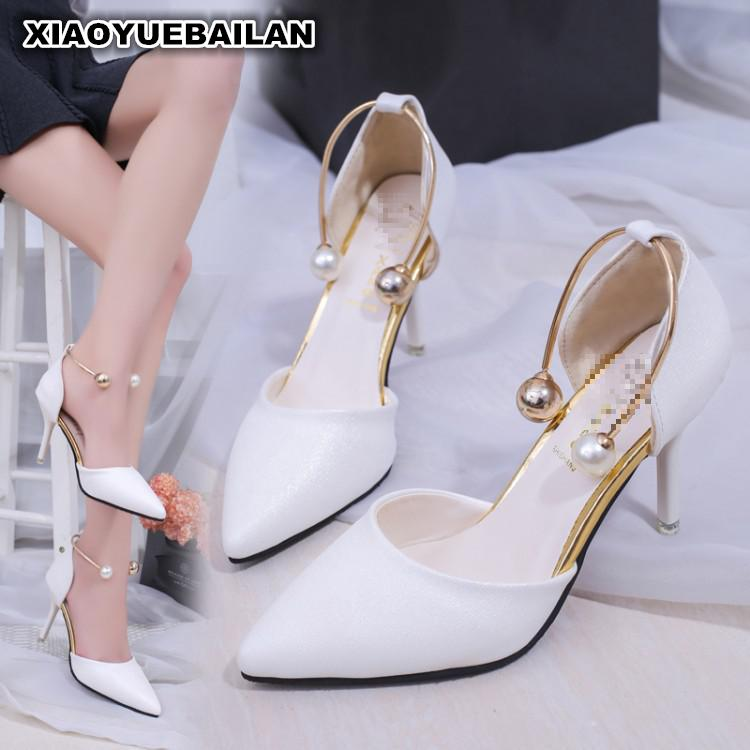 2017 New Sexy Sandals Shoes Pointed Side Empty High Heels All-match Fine shoes<br>