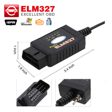 2017 powerful ELM327 USB FTDI chip with switch code reader for F0.rd HS CAN and MS CAN car diagnostic cable free Shipping