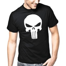 The Punisher Skull Cool T-Shirt Men's Supper Hero Clothes Hip Hop Tops Tee Shirts Brand Summer Camisetas T shirt Plus Size(China)