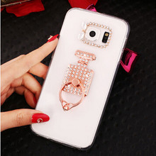 New 3D peacock sun bling Crystal diamond Stand Cell Phone Shell back Skin cover hard case For Samsung Galaxy S7 SM-G930(China)