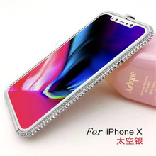 Buy Bling Diamond Luxury rhinestone Glitter Aluminum Metal Bumper Case Iphone X 6 6S 7 8 Plus 10 Prismatic Shape Frame Cover for $10.13 in AliExpress store
