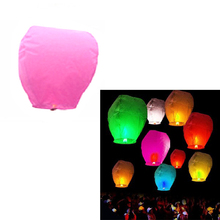 5Pcs Fire Sky Chinese Kongming Float Wishing Paper Lantern Colorful Wedding Festival Wedding Party Decoration