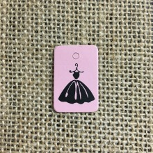 500PCS Mini Pink Cute Dress Garment Tags Label 350GSM Coated Paper Clothing Hang Tags Price Tag Customized Free shipping