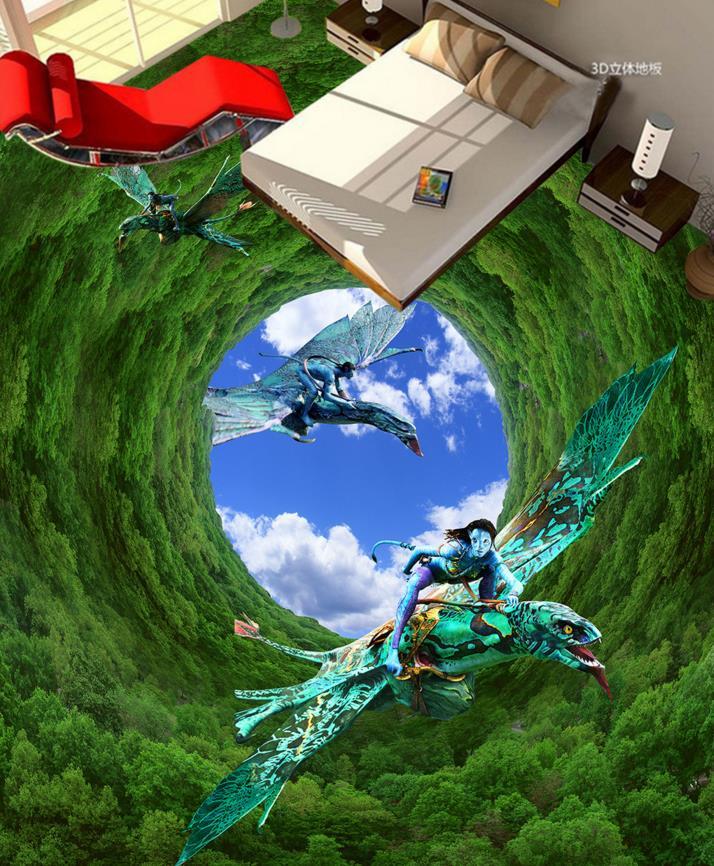 3d flooring customized landscape forest wallpaper murals in flooring photo 3D PVC floor murals<br><br>Aliexpress