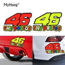 Removable Motorcycle 46 The Doctor Car Sticker 46 Helmet Motocross Moto Luggage For Yamaha Honda Suzuki Kawasaki Car Styling 1pc