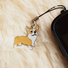 Lovely pet welsh corgi Dog Keychain for your phone Dogs Key Ring charm Wholesale Car Keyring gift Women Jewelry Tag key keychain(China)
