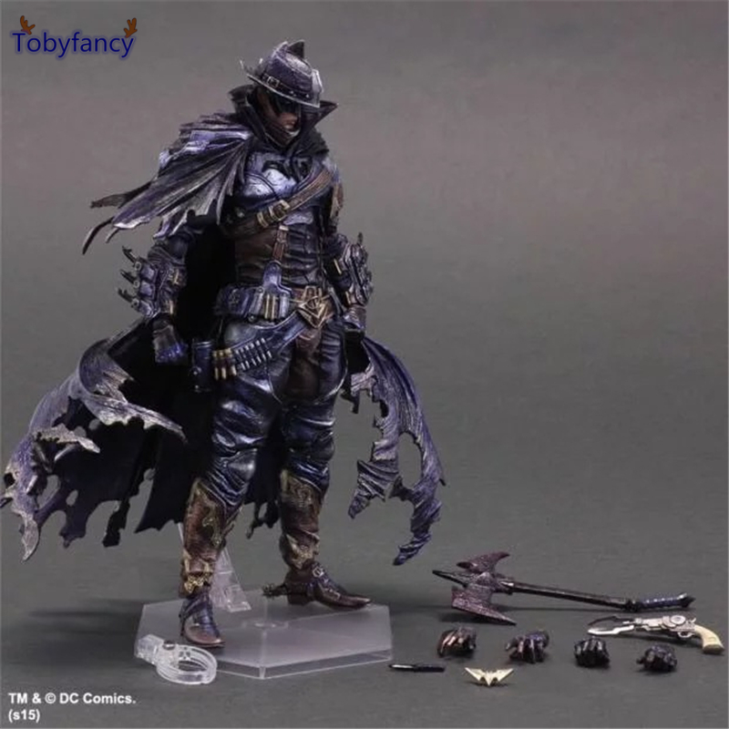 Tobyfancy West Cowboy Batman Action Figure Play Arts Kai PVC Toys 270mm Anime Model Toy West Cowboy Bat Man Playarts Kai<br>