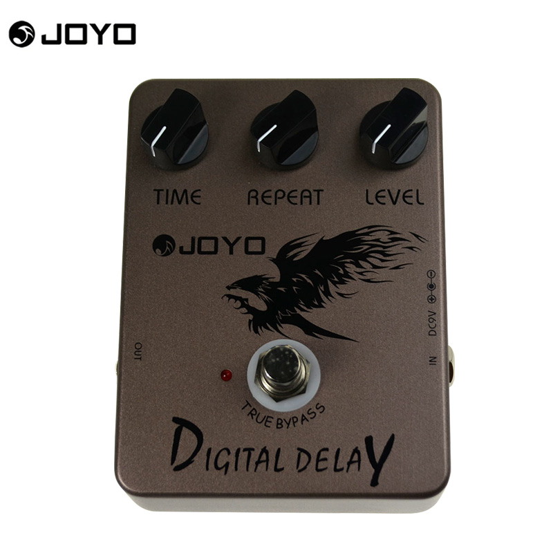 JOYO Digital Delay Guitar Effects Pedal Delay Effects pedal stompbox 600ms delay time warm and glossy True Bypass Free shipping<br>