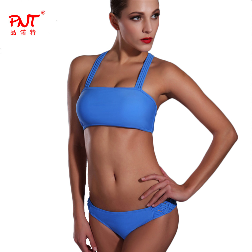 PNT185 Bikini 2017 Cintura Alta Listrado Bandage Bikini Set Swimsuit Swimwear Low Waist Sexy Braided Rope Biquinis Bathing Suit<br><br>Aliexpress