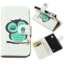 Cute Printing Wallet Case For LG Optimus G E973 E975 F180 Cover PU Leather Case with ID Card Holder and Stand 4 Colors(China)