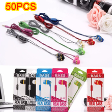 50PCS / Latecomer LX007 Stereo Music 3.5mm In-ear Cheap Earphone Headsets LX 007 Fashion Colorful Earphones for Mobile phone MP3