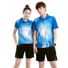 Free Print Badminton clothes Male/Female , sports Badminton sets ,Table Tennis clothes , Tennis sets 5051(China)