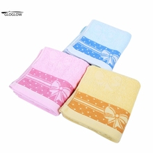 71 x 33.5cm / 28 x 13inch Soft Elegant Towel Cotton Face Towel Bath Hand Towels for Adults Face Bathroom Bowknot Pattern