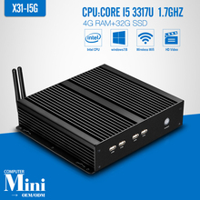 Industrial PC Mini Computer Station Fanless Industrial core i5 3317U 4G RAM 32G SSD+WIFI Thin Client Support HD Video