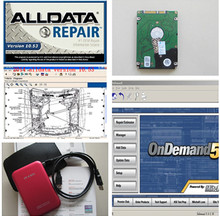 best price auto repair software v10.53 alldata software with mitchell on demand 2015 new 50 in 1TB HDD DHL Fast free ship