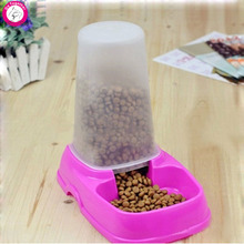 Automatic Pet Dog Feeder Plastic Fountain Food Water Dispenser 24*16*24cm