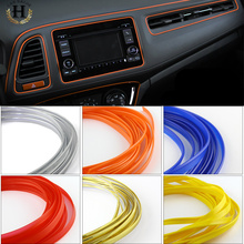 3M Universal Car Styling Flexible Interior Internal Decoration Moulding Trim Decorative Strips Line DIY 7 Colors Car-Styling