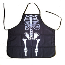 Free Shipping Hotsale  Novelty Cooking Kitchen Skeleton Frame Print Sexy Apron Baking Present Pinafore Chef Funny kitchen apron