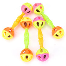 2Pcs Baby Kid Toy Shaking Dumbells Rattles Bells Baby Early Development Educational Toys  Wholesale Random color