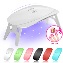 5W LED UV Nail Dryer Curing Lamp Light Portable for LED UV Gel Nail Polish USB Cable Nail Art Manicure Pedicure Home Use 6 Color(China)