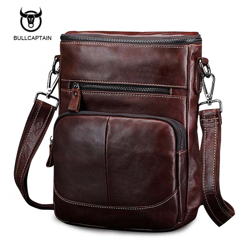 Bullcaptain 2017 Spring New Arrival Genuine Leather Genuine Leather Mens Bag Shoulder Bags For Men Cross body Bag Portfolio<br>