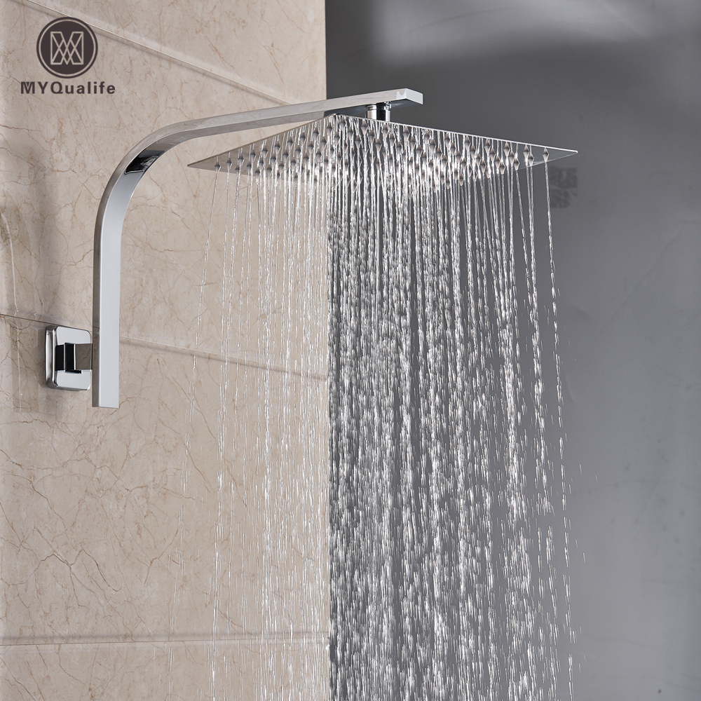 Bathroom Accessories Shower Arm Wall Mounted Stainless Steel Top Round Shower Extension Arms Pipe for Bathroom Ceiling Shower Head Accessories 6 Inch Bathroom