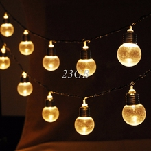 2017 NEW Outdoor LED Christmas Fairy String Light 20 Globe Connectable Festoon Ball Party EU Plug MAY09_25