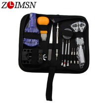 ZLIMSN Watch Repair Tool Kit&Set Case Opener Link Spring Bars Remover Screwdriver Quick Release Tweezer Watchmaker Repair Kit(China)