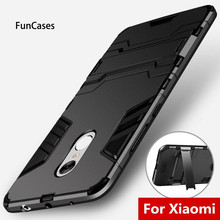 Shockproof Armor Phone Cases For Xiaomi Redmi Note 5 Pro For Xiaomi Mi 6 5 5S Plus Back Cover 3S Redmi Note 4 Note 4X 4A 4X Case(China)
